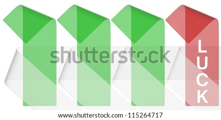 Happiness - It's like four-leaf clover. It is the fourth. - stock photo