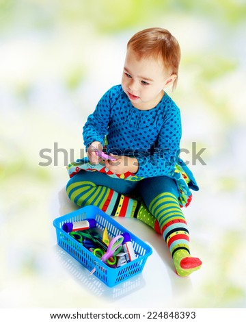Happiness, winter holidays, new year, and childhood.preparation for the new year - stock photo