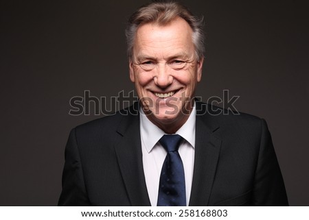 Happy Adult Man in a suit - stock photo