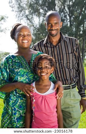 happy african family - stock photo