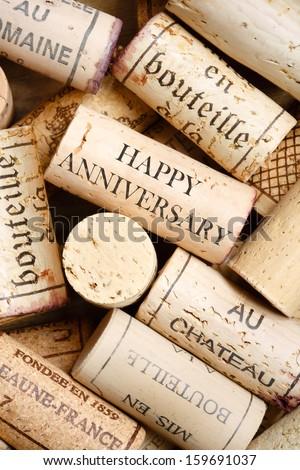 Happy Anniversary card - stock photo