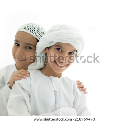 Happy Arabic family - stock photo