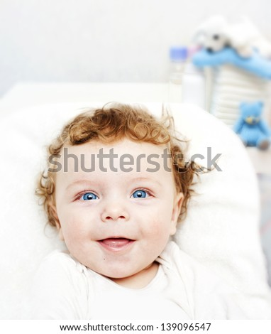 Happy baby boy. - stock photo