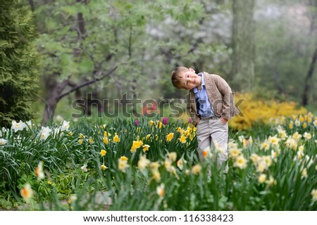 happy baby is in beautiful colors - stock photo