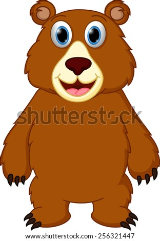 Happy bear cartoon  - stock photo