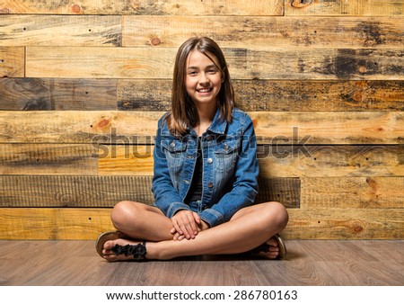 Happy beautiful cute girl - stock photo
