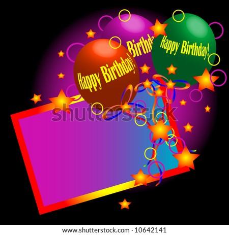 Happy Birthday Background. - stock photo