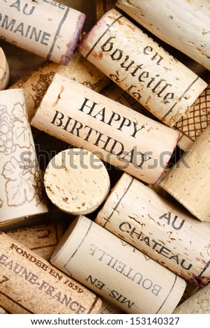 Happy Birthday card - stock photo