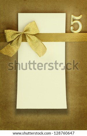 Happy birthday card on golden background - stock photo