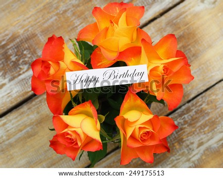 Happy Birthday Roses Card Happy Birthday Card With