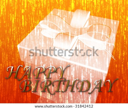 Happy Birthday festive special occasion celebration abstract illustration - stock photo