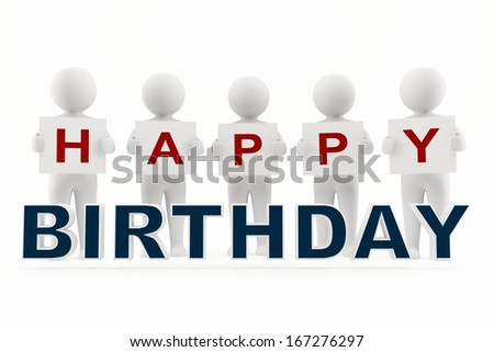 Happy Birthday greeting - stock photo