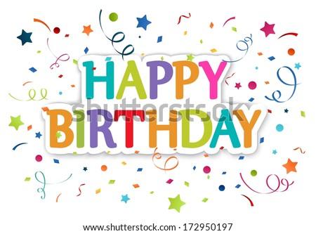 Happy birthday greetings - stock photo