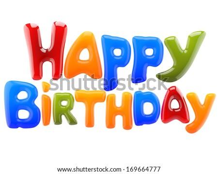 happy birthday sign - stock photo