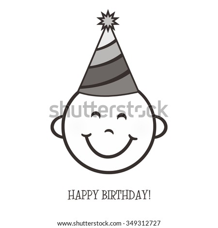 Happy Birthday Smile - stock photo