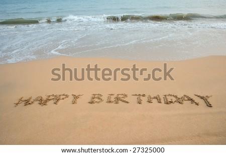 happy birthday beach pictures