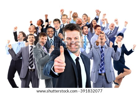 Happy business group. - stock photo