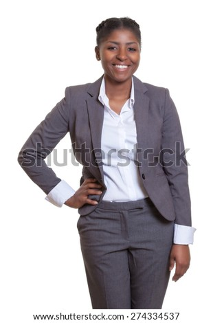 Happy businesswoman from Africa - stock photo