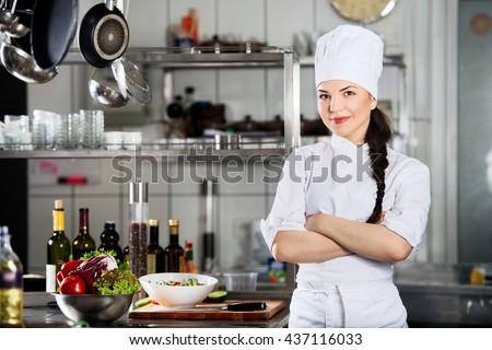 happy chef - stock photo