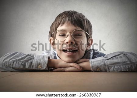Happy child  - stock photo
