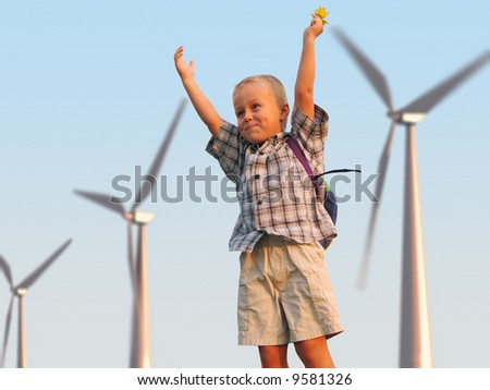 happy childhood - stock photo