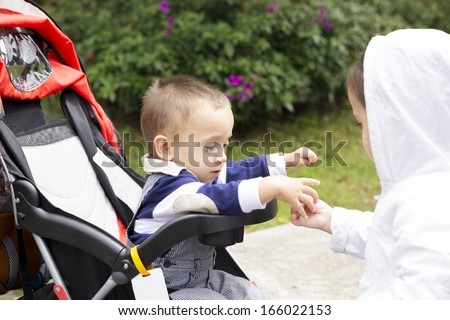 Happy Children Playing At Home, In Summer - stock photo