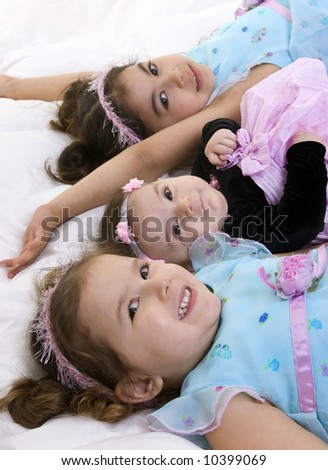 Happy children smiling. Bonding, Love, marriage, childhood - stock photo