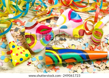 Happy, colorful party decoration - stock photo