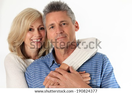Happy couple in their fifties.   - stock photo