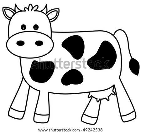 Happy Cow - stock photo