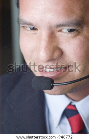 Happy Customer Service Help Desk - stock photo