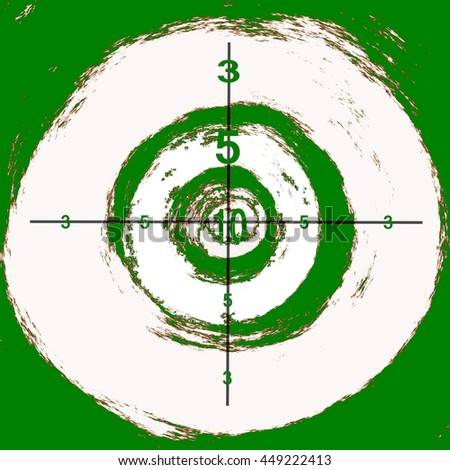 happy dartboard - cartoon targets for archery , crossbow or rifle shooting in different colors. Abstract  - stock photo