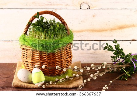 Happy Easter background - stock photo