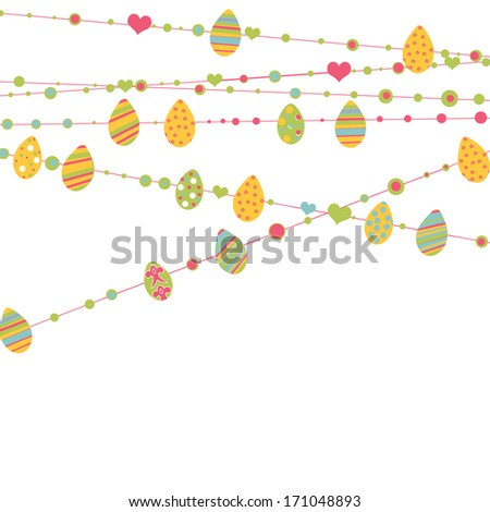 Happy Easter design elements set - stock photo