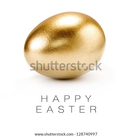 Happy Easter greeting card. - stock photo
