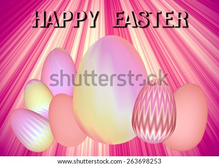 Happy Easter Illustration Background - stock photo