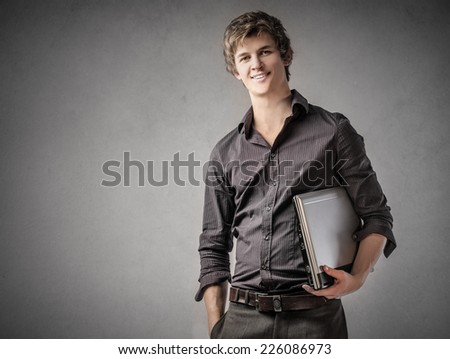 Happy employee  - stock photo