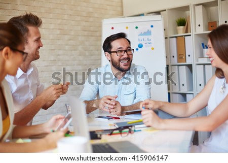 Happy employees - stock photo
