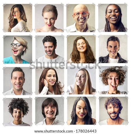 happy faces - stock photo