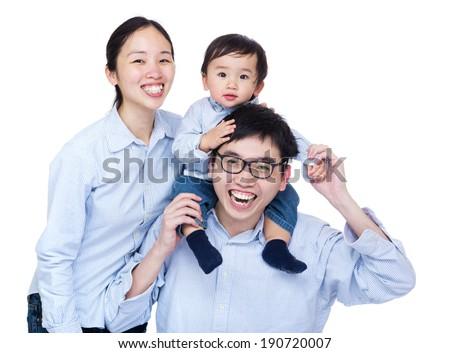 Happy family group photo - stock photo