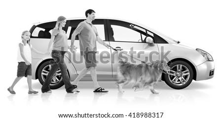 Happy Family Holiday Together Concept - stock photo