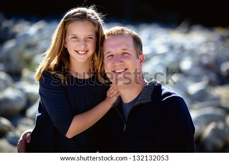 Happy Father and Daughter - stock photo