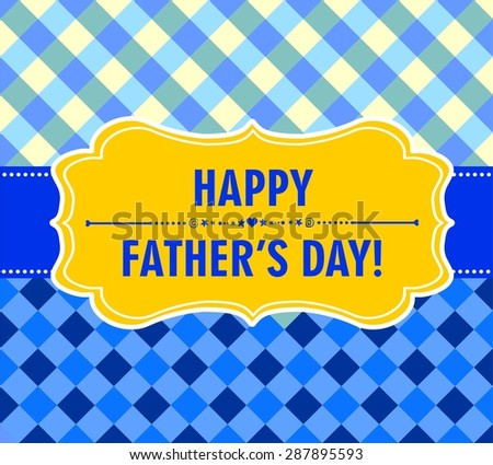 Happy Father's Day! Greeting card.  Illustration - stock photo