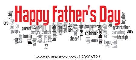 Happy Father's Day info text graphic isolated on white background - stock photo