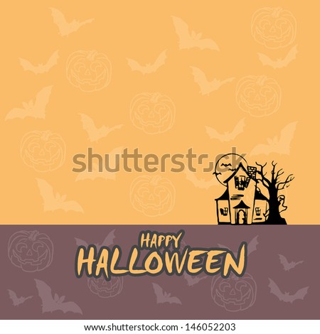Happy Halloween background design and concept - stock photo