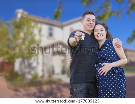 Hispanic Couples Pictures Happy Hispanic Couple in Front