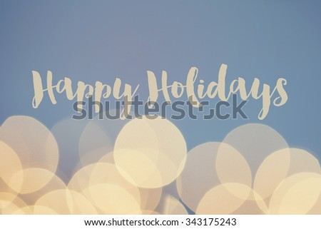 Happy holidays defocused bokeh glitter background - stock photo
