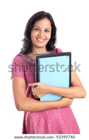 Happy Indian college student - stock photo