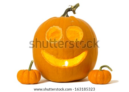 Happy Jack-o-lantern - stock photo