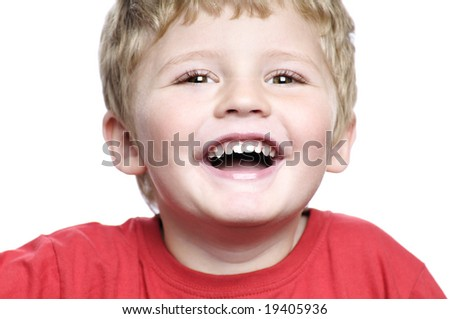 happy little boy - stock photo